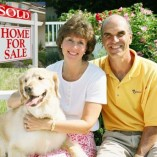 senior couple dog sold house